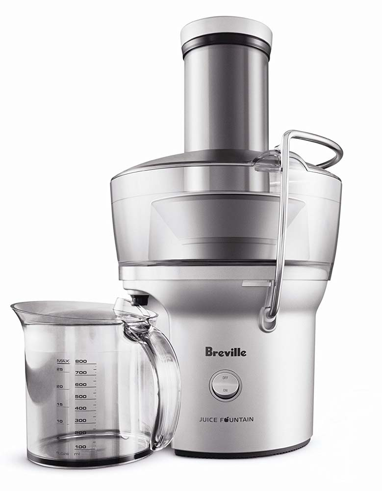 the Breville BJE200XL Com​pact Juice Fountain 700-Watt Juice Extractor